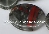 CAF04 15.5 inches 30*40mm oval African bloodstone beads