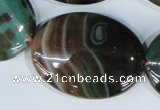 CAG1027 15.5 inches 30*40mm oval rainbow agate beads