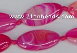 CAG1181 15.5 inches 15*30mm marquise line agate gemstone beads