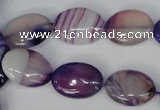 CAG1206 15.5 inches 12*16mm oval line agate gemstone beads