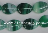 CAG1270 15.5 inches 13*18mm flat teardrop line agate gemstone beads