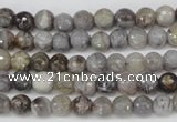 CAG1431 15.5 inches 6mm faceted round bamboo leaf agate beads