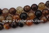 CAG1440 15.5 inches 8mm round dragon veins agate beads