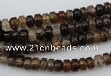 CAG1443 15.5 inches 3*6mm rondelle dragon veins agate beads