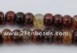 CAG1444 15.5 inches 8*12mm rondelle dragon veins agate beads