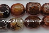 CAG1457 15.5 inches 13*18mm nuggets dragon veins agate beads