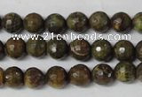 CAG1506 15.5 inches 8mm faceted round fire crackle agate beads
