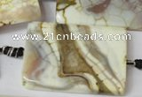 CAG1573 15.5 inches 30*40mm rectangle fire crackle agate beads
