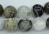 CAG1689 15.5 inches 14mm round ocean agate beads wholesale