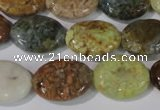 CAG1736 15.5 inches 15*20mm oval rainbow agate beads wholesale