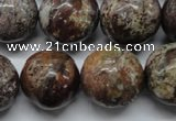 CAG1795 15.5 inches 20mm round rainbow agate beads wholesale