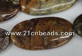 CAG2027 15.5 inches 20*40mm oval rainbow agate beads wholesale
