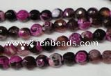 CAG2261 15.5 inches 6mm faceted round fire crackle agate beads
