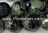 CAG2288 15.5 inches 20mm faceted round fire crackle agate beads