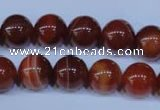 CAG2323 15.5 inches 10mmround red line agate beads wholesale