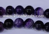 CAG2333 15.5 inches 10mm round violet line agate beads wholesale