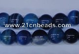 CAG2343 15.5 inches 10mm round blue line agate beads wholesale