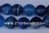 CAG2345 15.5 inches 14mm round blue line agate beads wholesale