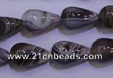 CAG2761 15.5 inches 12*20mm teardrop botswana agate beads wholesale