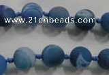 CAG2801 15.5 inches 10mm round matte druzy agate beads whholesale