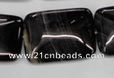 CAG2958 15.5 inches 22*30mm rectangle black line agate beads