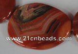 CAG3270 15.5 inches 28*40mm freeform red line agate beads