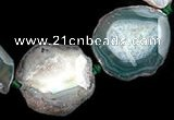 CAG329 rough agate nugget shape  gemstone beads Wholesale