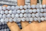 CAG3578 15.5 inches 8mm round blue lace agate beads wholesale