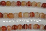 CAG3587 15.5 inches 8mm round red line agate beads wholesale