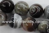 CAG3687 15.5 inches 18mm round botswana agate beads wholesale