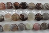 CAG3711 15.5 inches 8mm flat round botswana agate beads wholesale