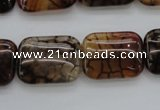 CAG4055 15.5 inches 15*20mm rectangle dragon veins agate beads
