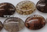 CAG4073 15.5 inches 18*25mm oval dragon veins agate beads