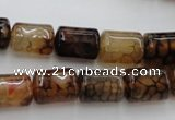 CAG4133 15.5 inches 10*14mm tube dragon veins agate beads