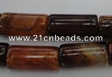 CAG4134 15.5 inches 12*25mm tube dragon veins agate beads