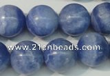 CAG4375 15.5 inches 16mm round dyed blue lace agate beads