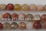 CAG4471 15.5 inches 6mm faceted round pink botswana agate beads