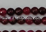 CAG4489 15.5 inches 6mm faceted round agate beads wholesale