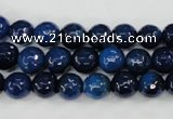 CAG4494 15.5 inches 8mm faceted round fire crackle agate beads