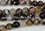 CAG4510 15.5 inches 8mm faceted round agate beads wholesale