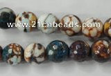 CAG4524 15.5 inches 10mm faceted round fire crackle agate beads