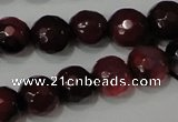 CAG4618 15.5 inches 6mm faceted round fire crackle agate beads