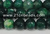 CAG4625 15.5 inches 6mm faceted round fire crackle agate beads