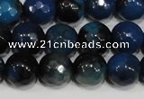 CAG4632 15.5 inches 6mm faceted round fire crackle agate beads