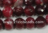 CAG4636 15.5 inches 6mm faceted round fire crackle agate beads