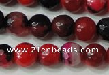 CAG4639 15.5 inches 6mm faceted round fire crackle agate beads