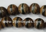 CAG4744 15 inches 14mm round tibetan agate beads wholesale