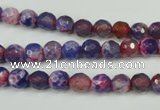 CAG4802 15 inches 6mm faceted round fire crackle agate beads