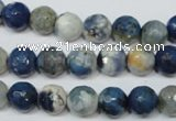 CAG4806 15 inches 8mm faceted round fire crackle agate beads