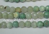 CAG4811 15 inches 6mm faceted round fire crackle agate beads
